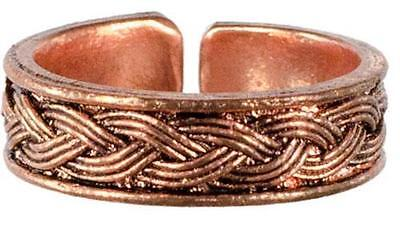 Adjustable Copper Celtic Weave Toe Ring!