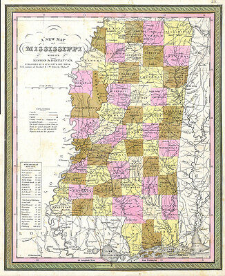1849 Cowperthwait - Mitchell Map of Mississippi