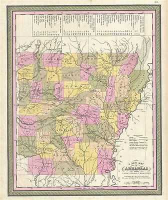 1849 Mitchell Map of Arkansas