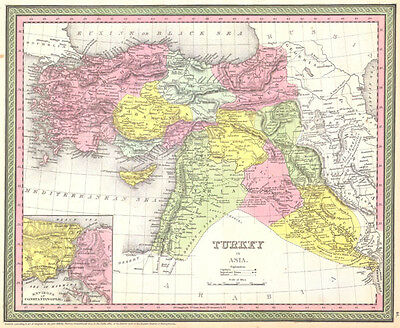 1850 Mitchell - Mitchell Map of Turkey in Asia
