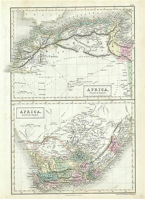 1851 Black Map of North and South Africa