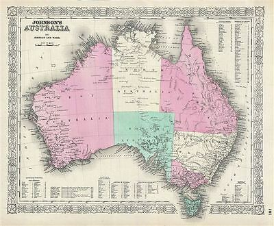 1864 Johnson Map of Australia