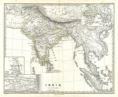 1865 Spruner Map of India and Southeast Asia
