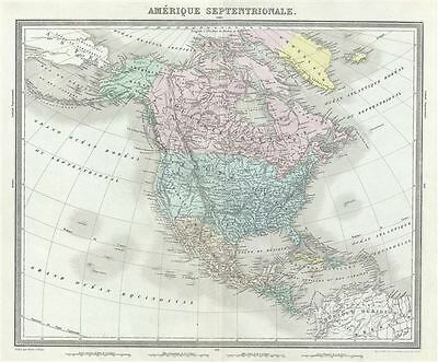 1874 Tardieu Map of North America