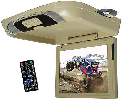 TVIEW  Tview 15 Flip Down Monitor with DVD Player USB/SD IR/FM Transmitters