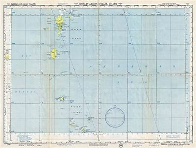 1957 U.S. Air Force Aeronautical Chart or Map of the Andaman Islands, India