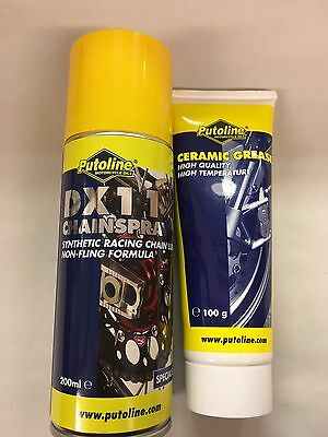 Putoline DX11 Chainspray 200ml & Ceramic Grease 100g 2 pack Maintenance Offer