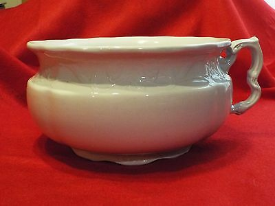 Ironstone China - J & G Meakin Hanley England - Decorative Chamber Pot