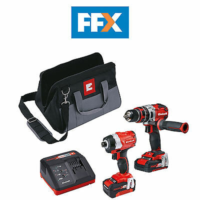 Einhell 4257216 Power-X-Change Brushless Drill & Driver Twin Pack 18V 2 x 4.0Ah