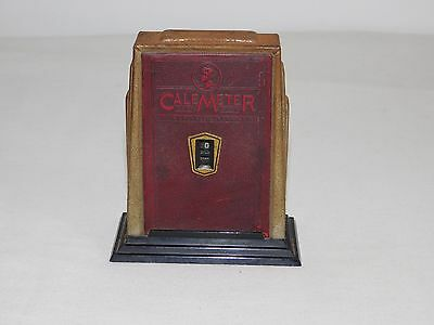 """Vintage Made In Usa 5"""" High Zell Products Calemeter  Calendar Coin Bank"""
