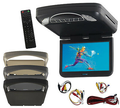"""AUDIOVOX MTG10UHD Audiovox 10.1"""" LED Monitor w/ DVD HD Inputs Movies to go by..."""