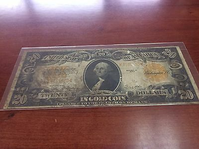 1922 $20 Gold Note