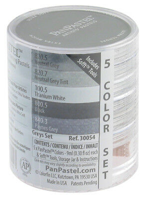 Panpastel 30054 Pp Ultra Soft Artists Painting Pastels Grey Set
