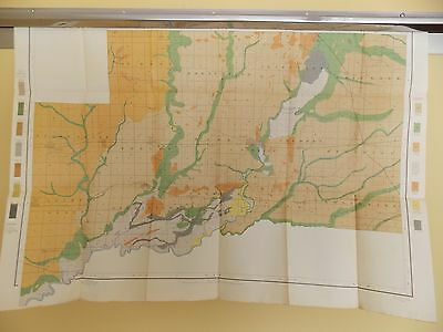 Antique 1902 Soil Map Clinton County IL Carlyle Breese Germantown Approx 33 X 24