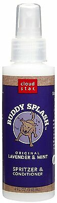 Buddy Splash Spritzer Lavender Mint Doggy Odor Pet Deodorize 4 oz
