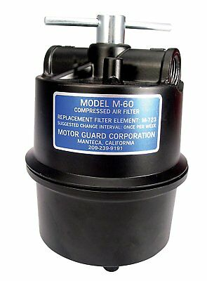 """Motor Guard M-60 Sub-Micronic Compressed Air Filter 1/2"""" NPT"""