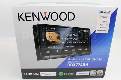 "Kenwood DDX774BH Double DIN Stereo Bluetooth HD Radio w/ 6.95"" Display"
