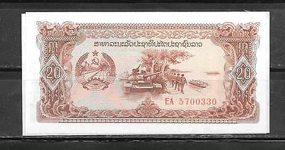 LAOS 28r REPLACEMENT 1979 UNC MINT 20 KIP OLD BANKNOTE BILL NOTE PAPER MONEY