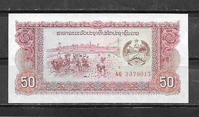 LAOS 29r REPLACEMENT 1979 UNC MINT 50 KIP OLD BANKNOTE BILL NOTE PAPER MONEY