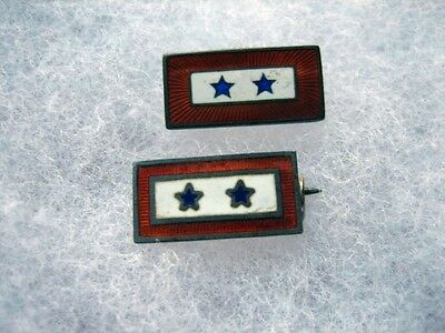 Lot of Two 2 Star Son in Service Pins
