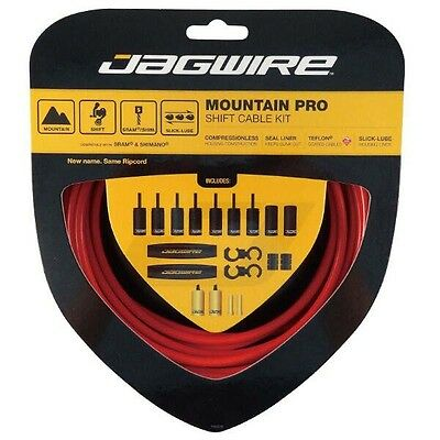 Jagwire Shift Cable Kit Pro Mtb Sram   Shimano  Red Cables y fundas
