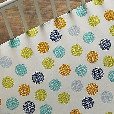 New Lolli Living BABY BOT DOT Fitted Crib or Toddler Bed Sheet Geo Polka Dot