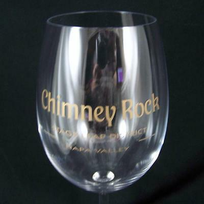 Chimney Rock Crystal Wine Glass Stags Leap District Napa Valley Winery Vineyard