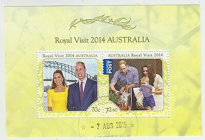 Australia 2014 Royal Visit Cto Minisheet (Jd5789)