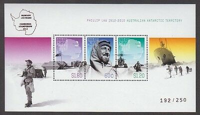 Aat Phillip Law M/s Overprinted Canberra Stampshow 2012 (Jd5740)