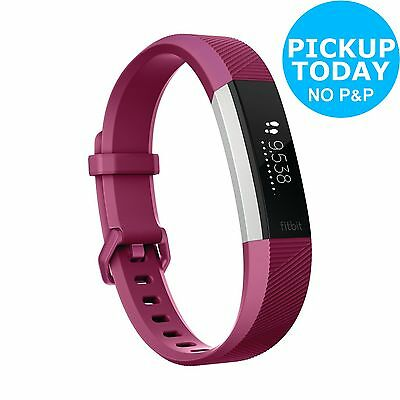 Fitbit Alta HR Heart Rate Fitness Band Fuchsia - Small. From Argos on ebay