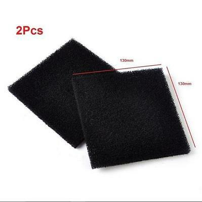 2x Universal Black Activated Carbon Foam Sponge Air Impregnated Sheet Filter Pad