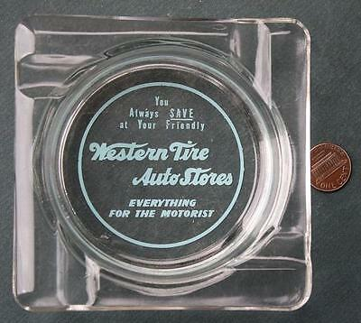 1960s Era Western Tire Auto Store ashtray-Everything for the Motorist-VINTAGE!