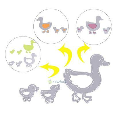 3pcs Ducks Cutting Dies DIY Album Scrapbook Embossing Crafts Paper Card Decor