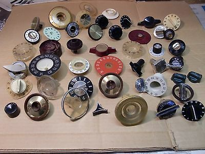 VINTAGE RADIO And/Or TV KNOBS, OLD ONES, ALL USED