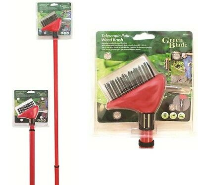 Telescopic Patio Weed Moss Wire Brush Extendable Garden Slabs Mono Blocks Wb131
