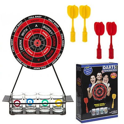 Soft Dartboard Adult Drinking Darts Game & Shot Glasses Stag Hen Party 617006