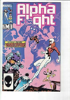 MARVEL Comic Alpha Flight 32 March 1986  75c  copy