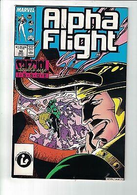 MARVEL Comic Alpha Flight 50 Sept 1987 Double size special issue 1.25c  copy