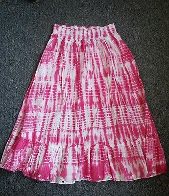 Justice skirt for girls size 18 pink and white so pretty!