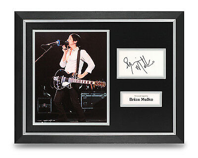 Brian Molko Signed Photo Framed 16x12 Display Placebo Autograph Memorabilia COA