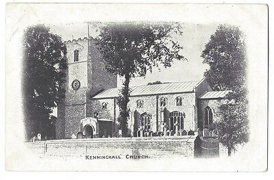 NORFOLK Kenninghall Church, Old Postcard Postally Used c1910, Kenninghall p/m
