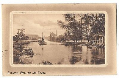 NEWARK View on the Trent, Old Postcard by Frith Postally Used 1911