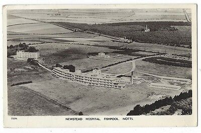 FISHPOOL Newstead Hospital, Notts, Aerial RP Postcard  by Aero Pictorial 1958