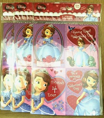Hallmark Disney Sofia the First 3 Pack of 12 Valentines 36 Total
