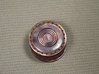 Antique Mother of Pearl Pin Cushion Disc Rare Sewing Bobbin Sized