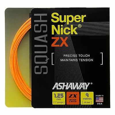 Ashaway SuperNick ZX Wear Layer Squash Multifilament String Set