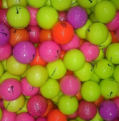 Nike PD Coloured Golf Balls Pearl / A Lake Grade Optic Pink Purple Orange Yellow