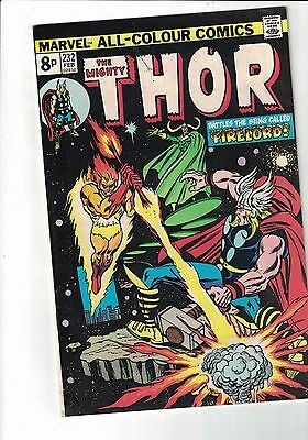 Marvel Comic The Mighty Thor  no 232 Feb 1975