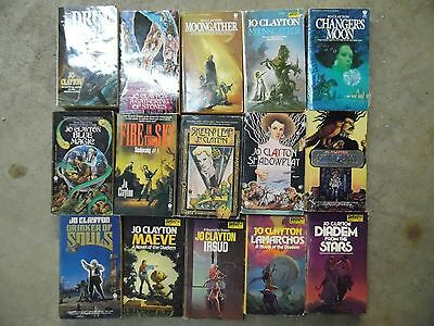 Large Lot of 15 Jo Clayton Science Fiction & Fantasy Paperback Books