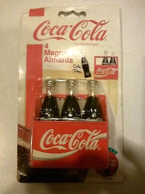 Coca Cola Magnets--Carton with 3 Bottles (1995) Unopened